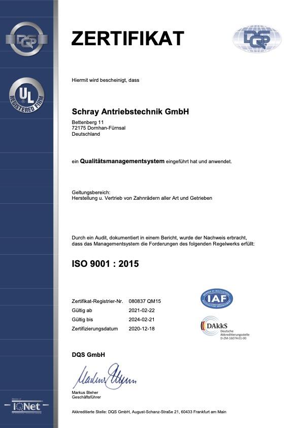 Schray Antriebstechnik GmbH Dornhan Fürnsal
